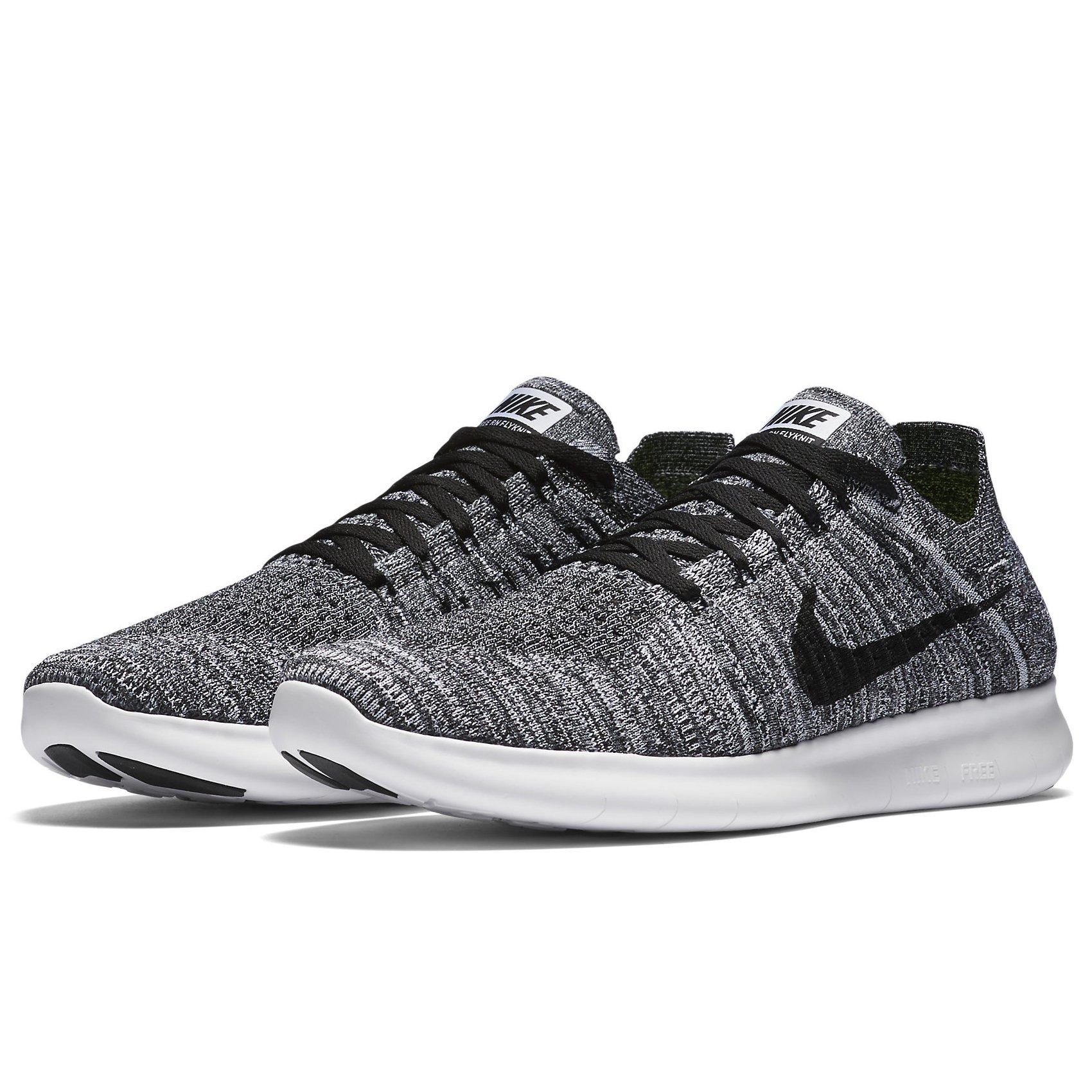 6df93b6d5610a Galleon - Nike Mens Free RN Flyknit Running Shoe WHITE BLACK-TOTAL  CRIMSON-BLUE LAGOON 14.0