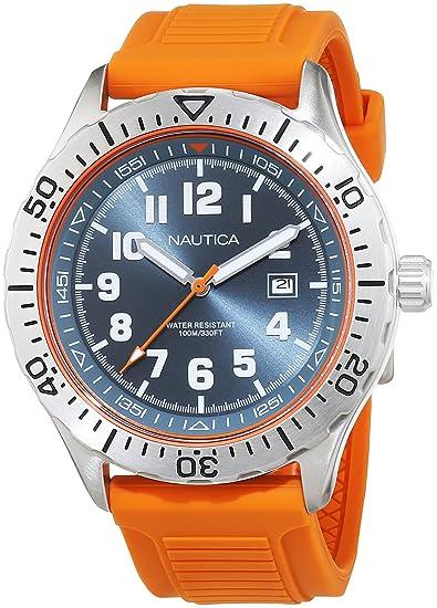 ad0aeec08bc0 Náutica NAD12537G Reloj Nautica NAD12537G Silicón Naranja Caballero Analogo  for Accesorios