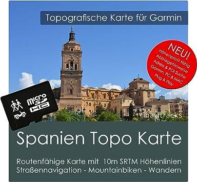 España Garmin tarjeta Topo 4 GB MicroSD. Mapa topográfico GPS Tarjeta de educativo para los senderismo