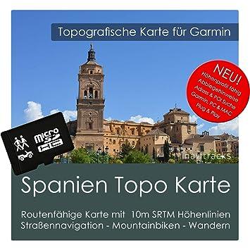 España Garmin tarjeta Topo 4 GB MicroSD. Mapa topográfico GPS Tarjeta de educativo para los