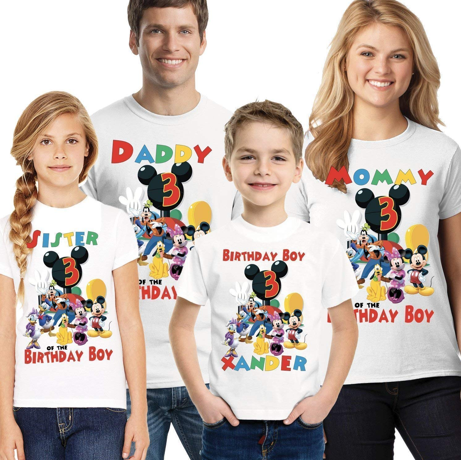 Personalized Custom Mickey Mouse Birthday T Shirt Party Gift for Family