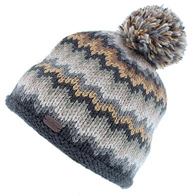 8ad79622d Kusan (KU1201) 100% Wool Bobble Beanie hat (Mens/Ladies/Unisex ...