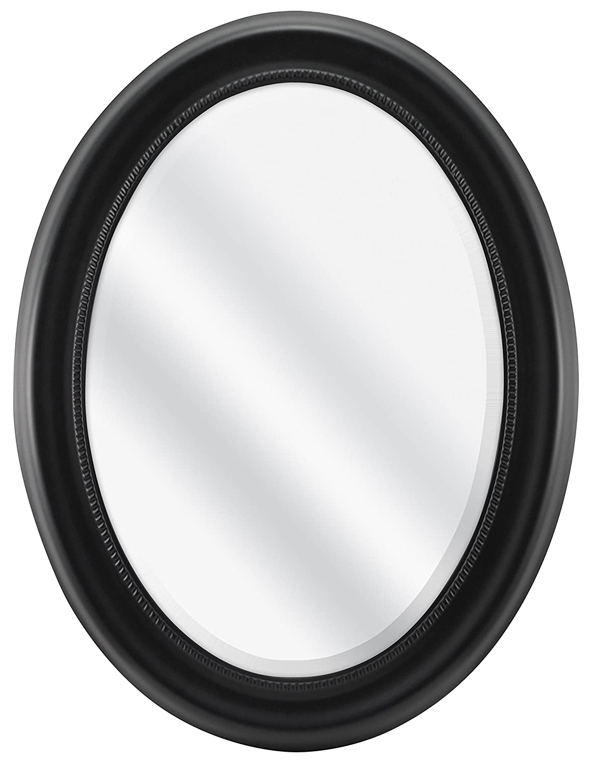 MCS Oval Mirror Frame with Black Finish, 22.5x29.5 22.5x29.5 MCS Industries 65715