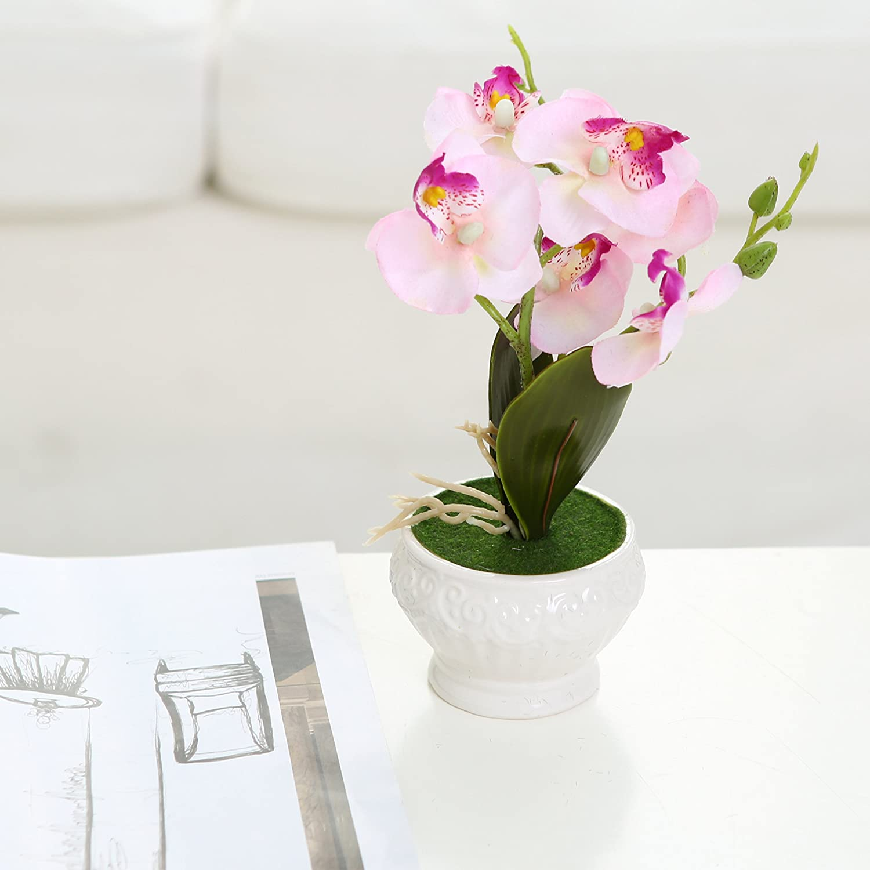 Amazon.com: Artificial Silk Phalaenopsis Orchid Flower Arrangement w ...