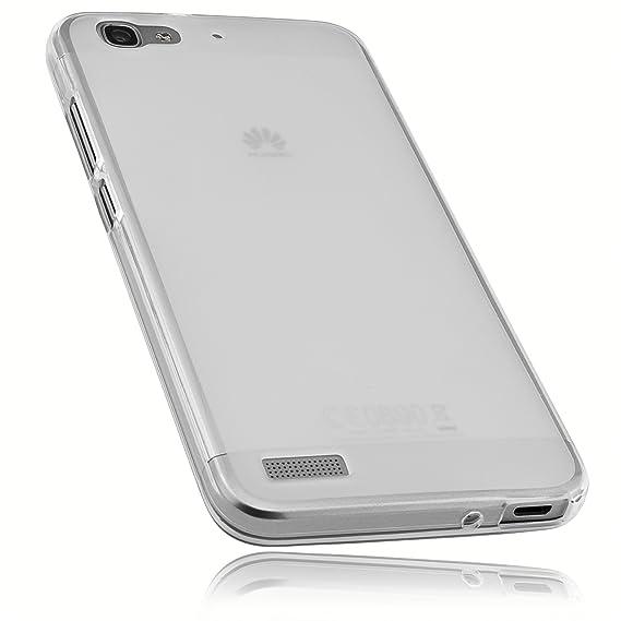 mumbi Schutzhülle für Huawei GR3 / P8 Lite Smart Hülle transparent weiss