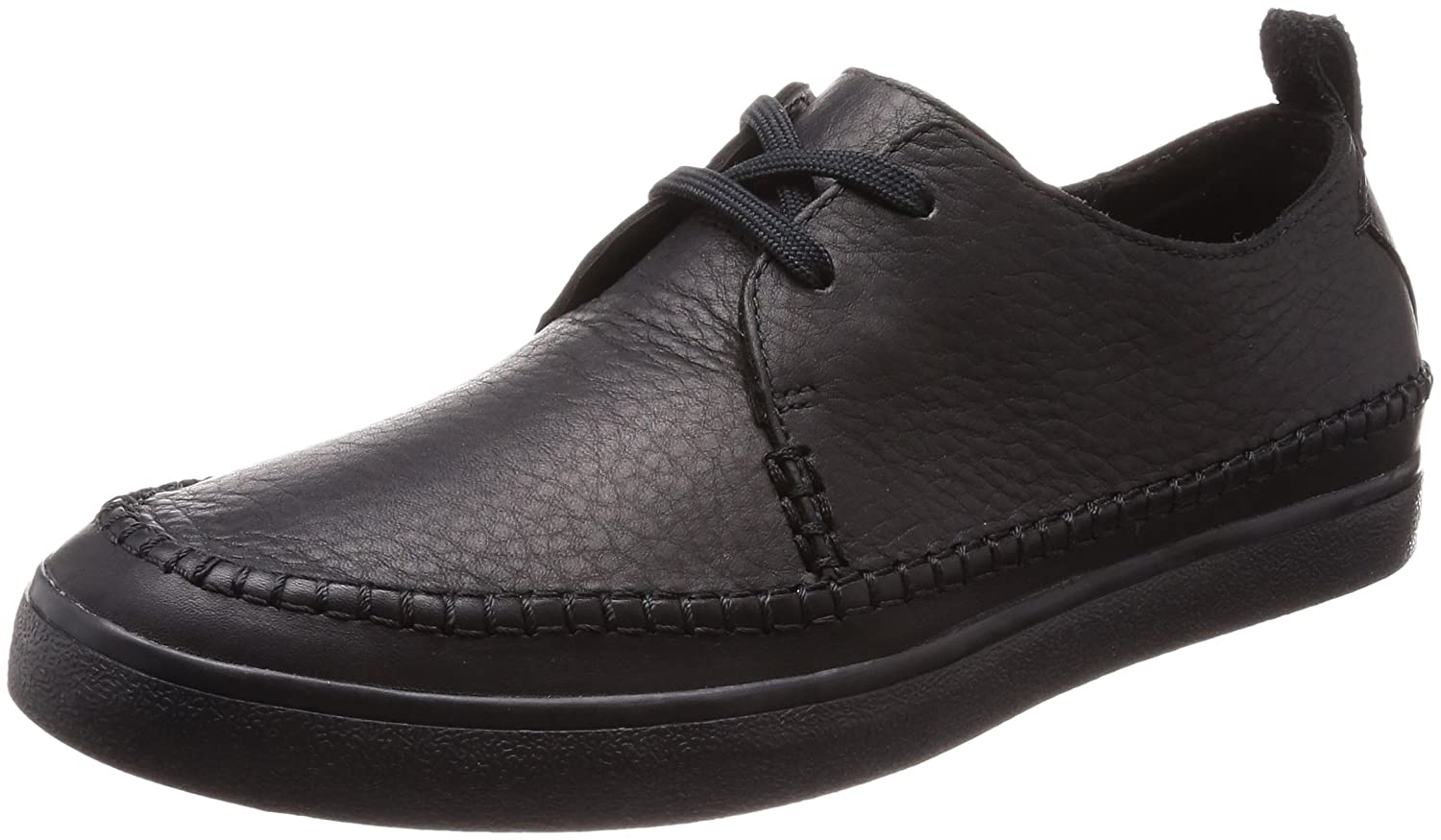 Clarks Kessell Craft, Zapatos de Cordones Derby para Hombre 41 EU|Negro (Black Leather)