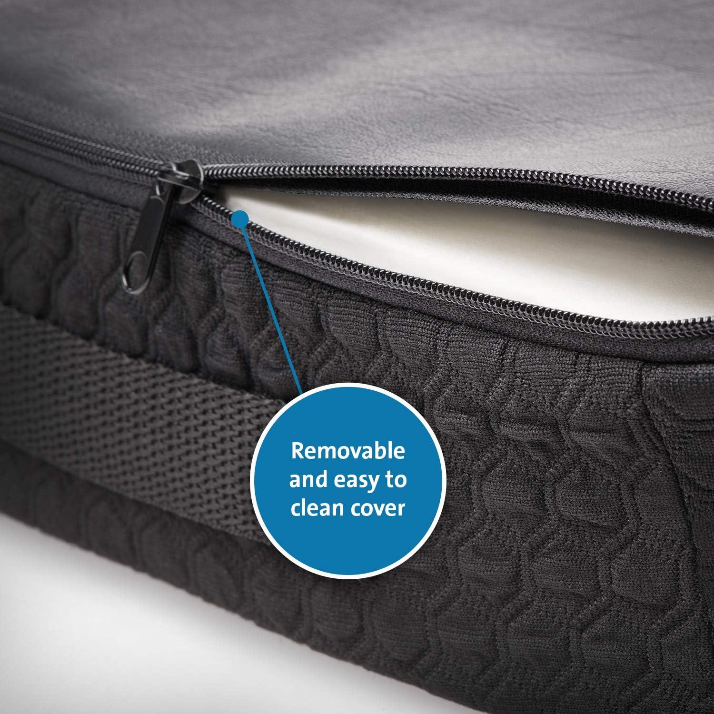 Kensington Coussin Premium avec Gel Refroidissant, Noir - Soulage la Colonne Vertébrale, Améliore la Posture, Idéal en cas de Sciatique ou Douleurs Orthopédiques (K55807WW)