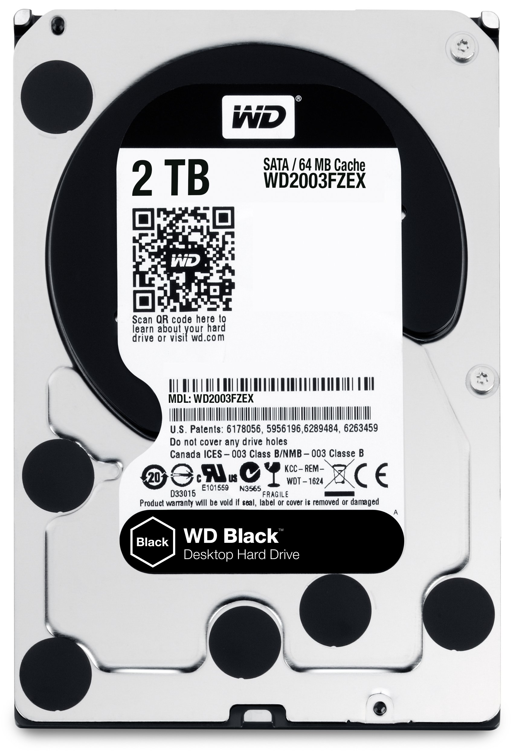 WD Black 2TB Performance Desktop Hard Disk Drive - 7200 RPM SATA 6 Gb/s 64MB Cache 3.5 Inch  - WD2003FZEX by Western Digital