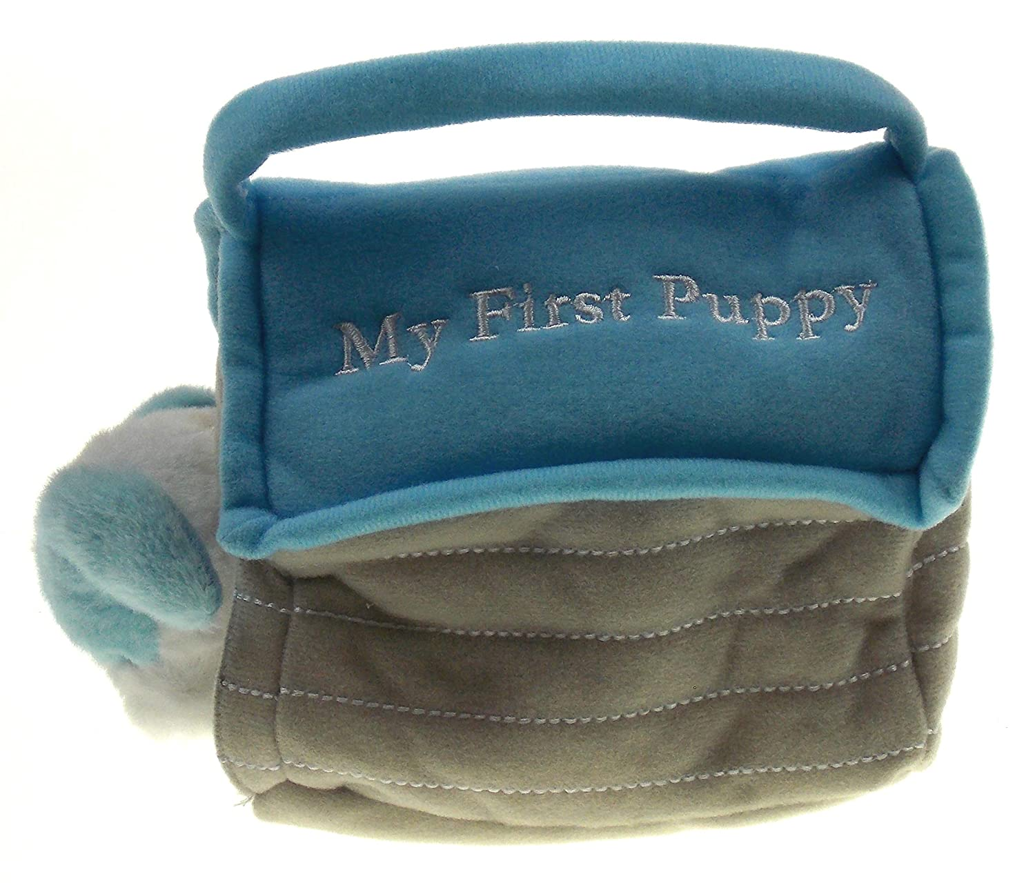 My First Puppy in Dog House Bundled with Baby Bottle Photo Frame Boy Blue Hickoryville