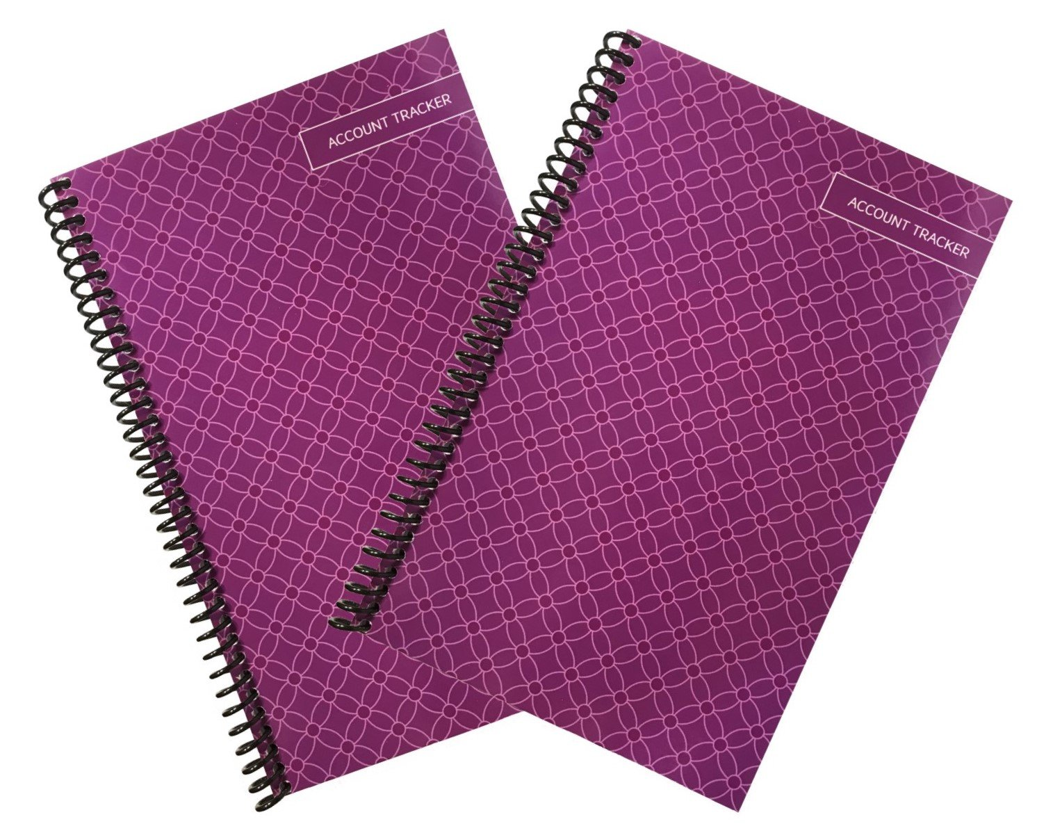 Superior Check and Debit Card Register - Simple Account Tracker - Purple - 2-Pack by The Superior Register (Image #1)
