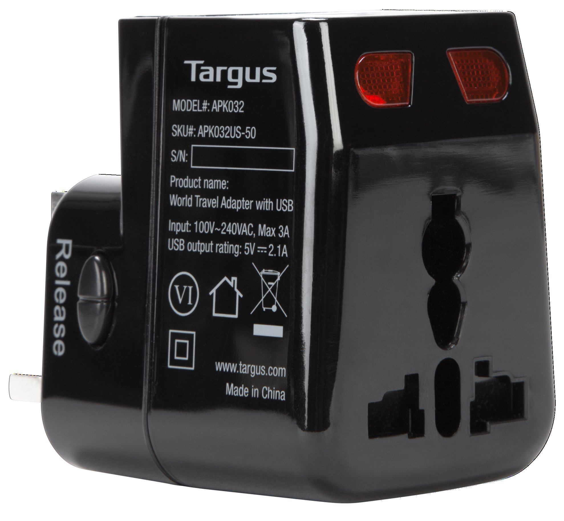 Targus World Travel Power Adapter with Dual USB Charging Ports for Laptops, Phones, Tablets, or Other Mobile Devices (APK032US) by Targus (Image #7)