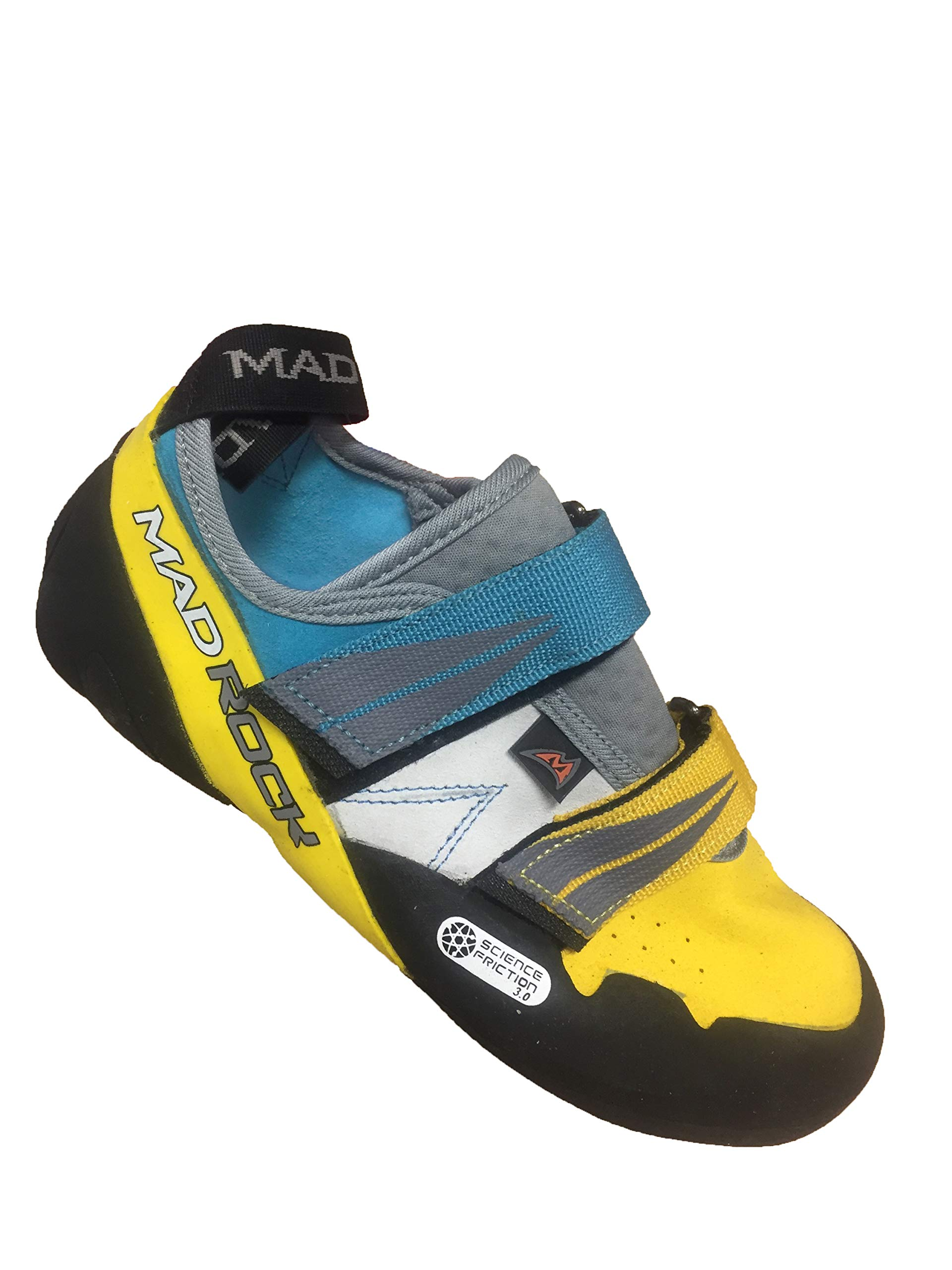 Mad Rock Agama Climbing Shoe Teal/Yellow, 5.0 by Mad Rock