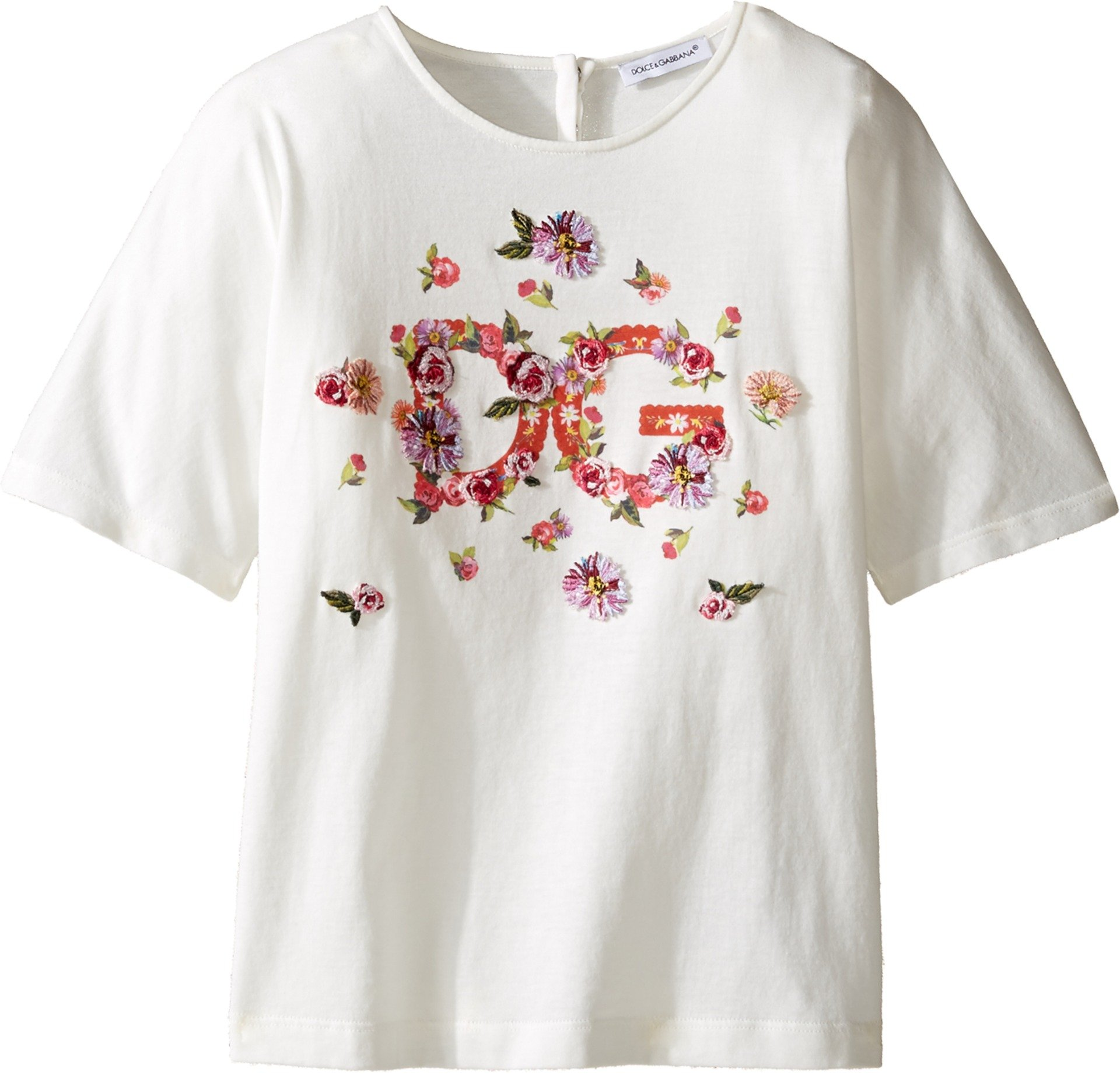 Dolce & Gabbana Kids Baby Girl's Mambo Logo T-Shirt (Toddler/Little Kids) Carretto Print T-Shirt