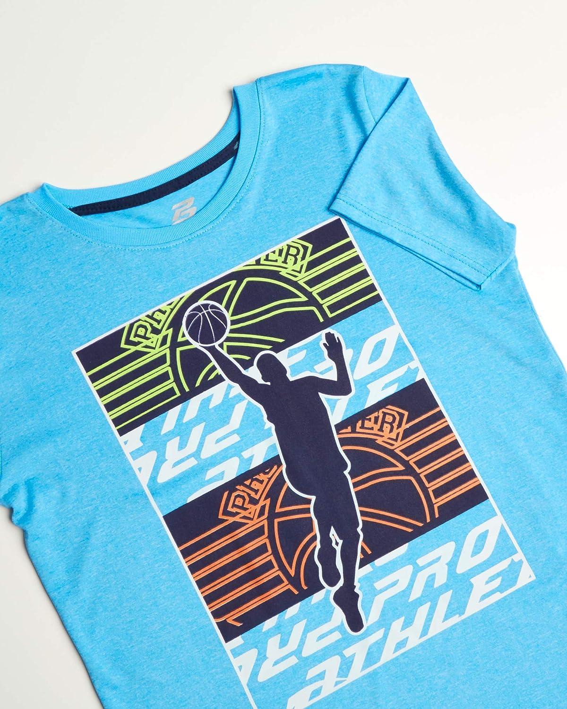 Pro Athlete Boys 4-Piece Matching Performance Basketball Shirt and Short Sets