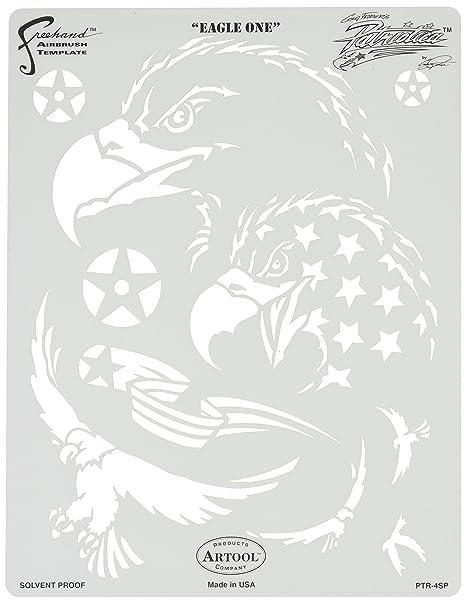 Artool Freehand Airbrush Templates, Patriotica Eagle One