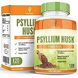 Cáscara de Psyllium - Suplemento de Fibra Psyllium 500mg - 120 Cápsulas (Suministro Para 2 Meses) de Earths Design