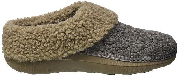 Loaff TM Quilted, Pantofole Aperte sulla Caviglia Donna, Grigio (Charcoal), 38 EU FitFlop