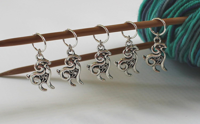 Set of 5 Goat Stitch Markers for Knitting Walnut Farm Designs