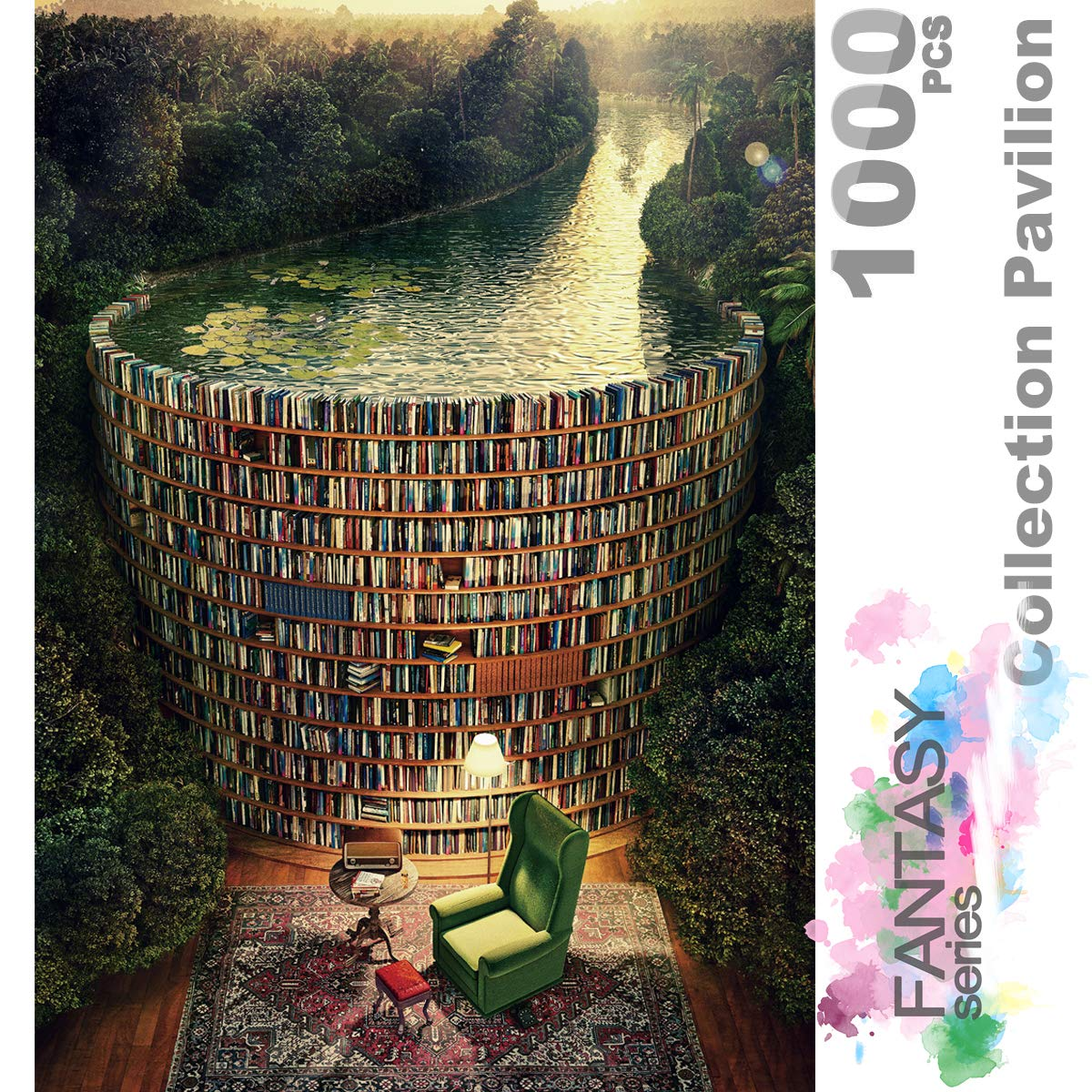 Ingooood- Jigsaw Puzzles 1000 Pieces for Adults- Fantasy Series- Collection Pavilion_IG-0292 Entertainment Toys for Adult Special Graduation or Birthday Gift Home Decor by Ingooood
