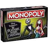 Monopoly Disney Nightmare Before Christmas Board Game | Collectible Monopoly Tim Burton Nightmare Before Christmas Movie…