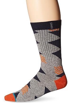 Stance Men's Thunderbolt Classic Crew Socks, Grey, Large/Shoe Size 9 - 12