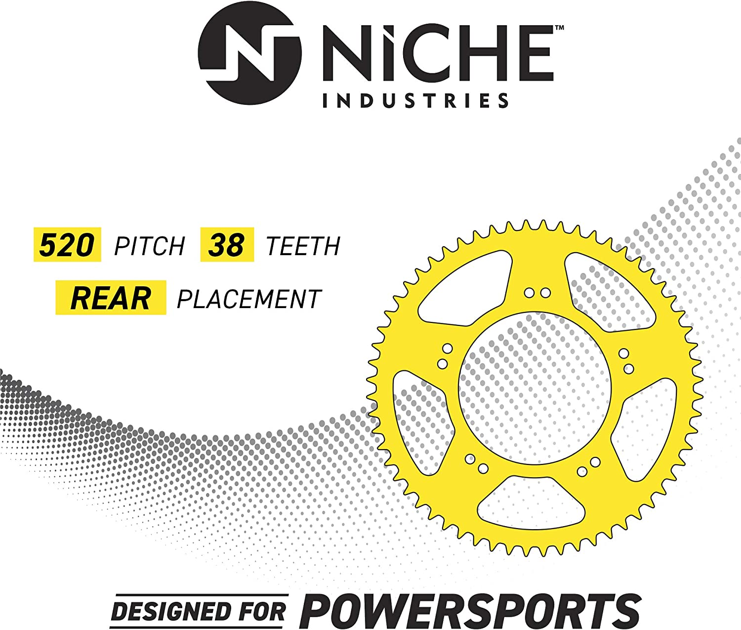 NICHE 520 Pitch Front 14T Rear 38T Drive Sprocket Kit For 2004-2005 Honda TRX450R