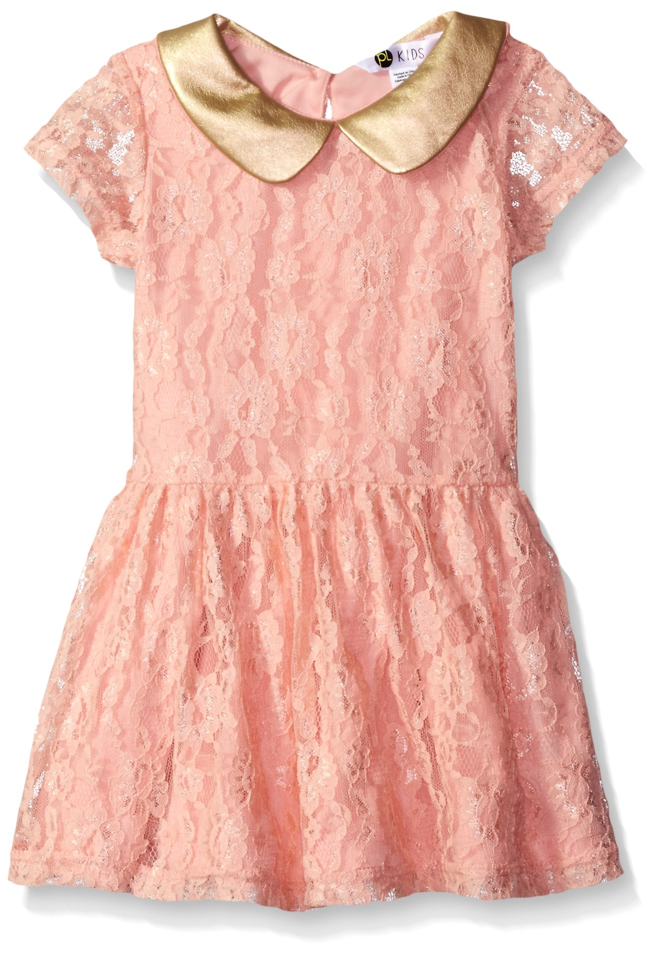 Petit Lem Girls' Little Chic and Love Dress, 401 Pink, 4