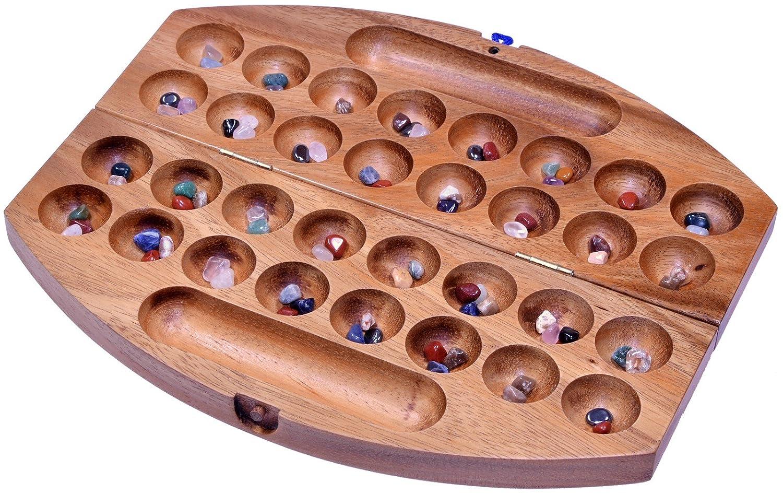 Wahl 2 Bao Hus Kalaha Bohnenspiel Edelsteinspiel Reisespiel oval Samena Holz
