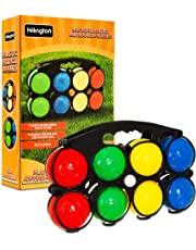 Hillington Colourful Plastic Boules Water Filled French Pétanque Bowls Fun Garden Game Set For All Ages and Skills