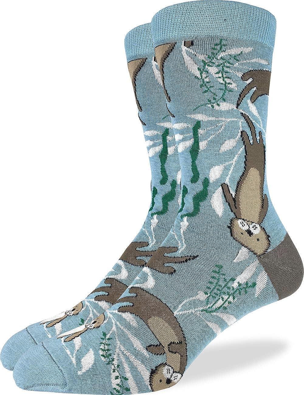 Good Luck Sock Men's Extra Large Sea Otter Socks, Size 13-17, Big & Tall
