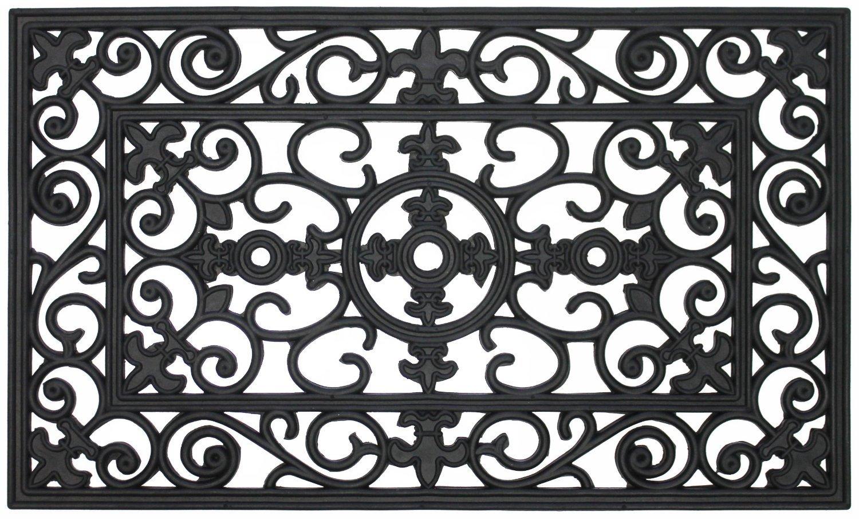 Amazon.com : MILLIARD Rubber Door Mat, U0027Lillyu0027 Design Decorative Rubber  Outdoor Doormat 30 X 18in. : Welcome Mat : Garden U0026 Outdoor