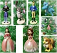 """Sofia the First 7 Piece Holiday Christmas Ornament Set Featuring Sofia, King Roland II, Queen Miranda, Baileywick, Clover Crackle, and Baby Griiffin - Shatterproof Ornaments Range from 2"""" to 4"""" Tall"""
