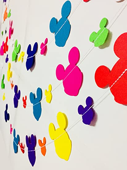 Amazon Rainbow Mickey Mouse Paper Garland Party Decorations
