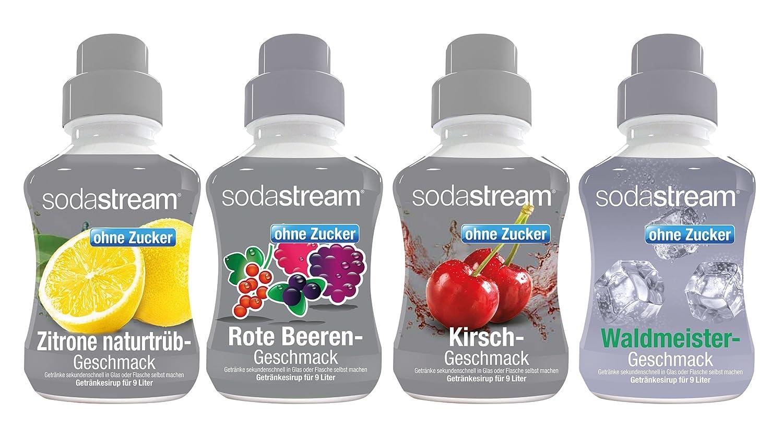 Sodastream 4er Packung Sirup Fruchtschorle ohne Zucker, 4x375 ml ...