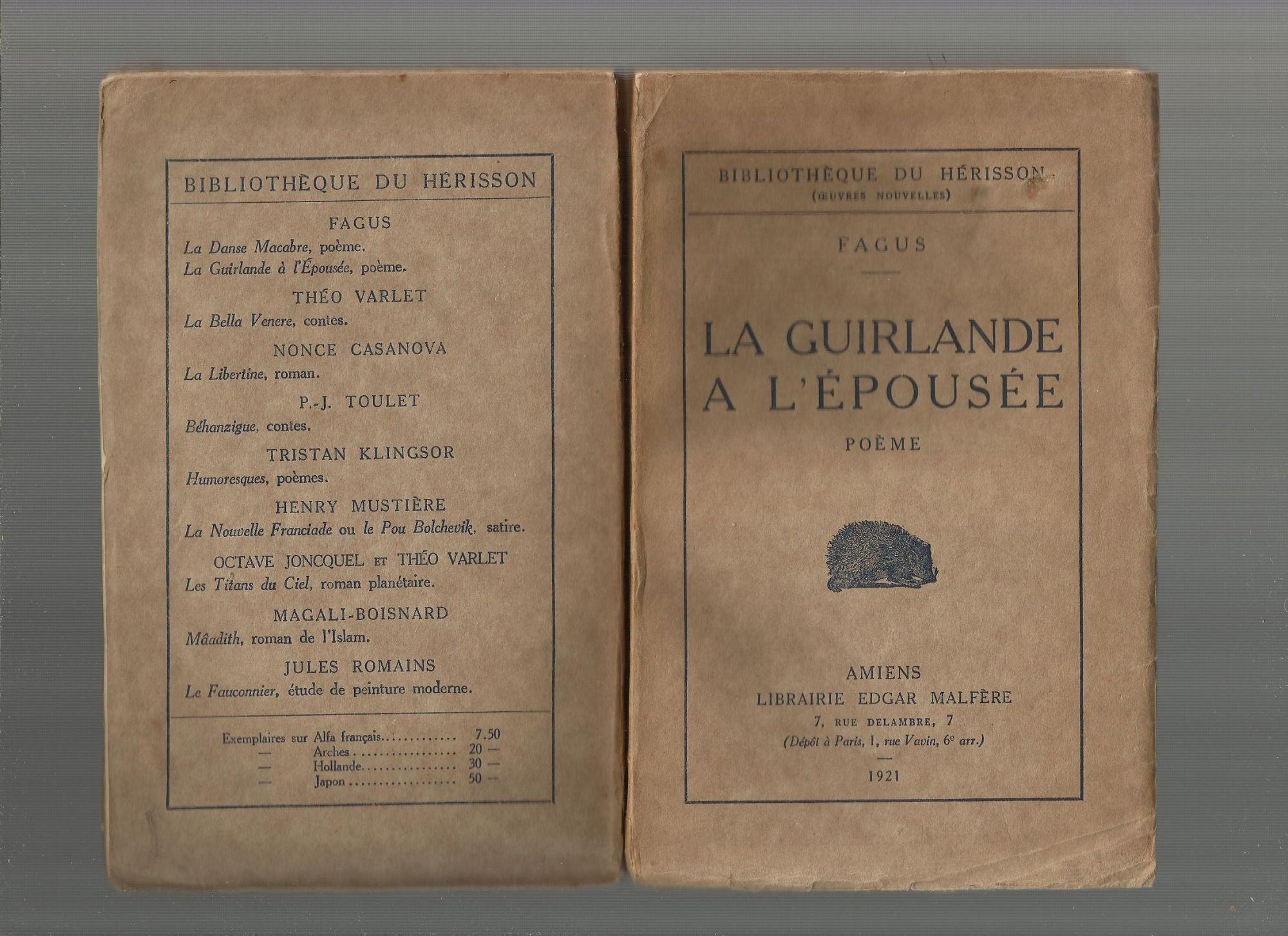 La Guirlande à Lépousée In 8 Br 240 Pp Amazoncom Books