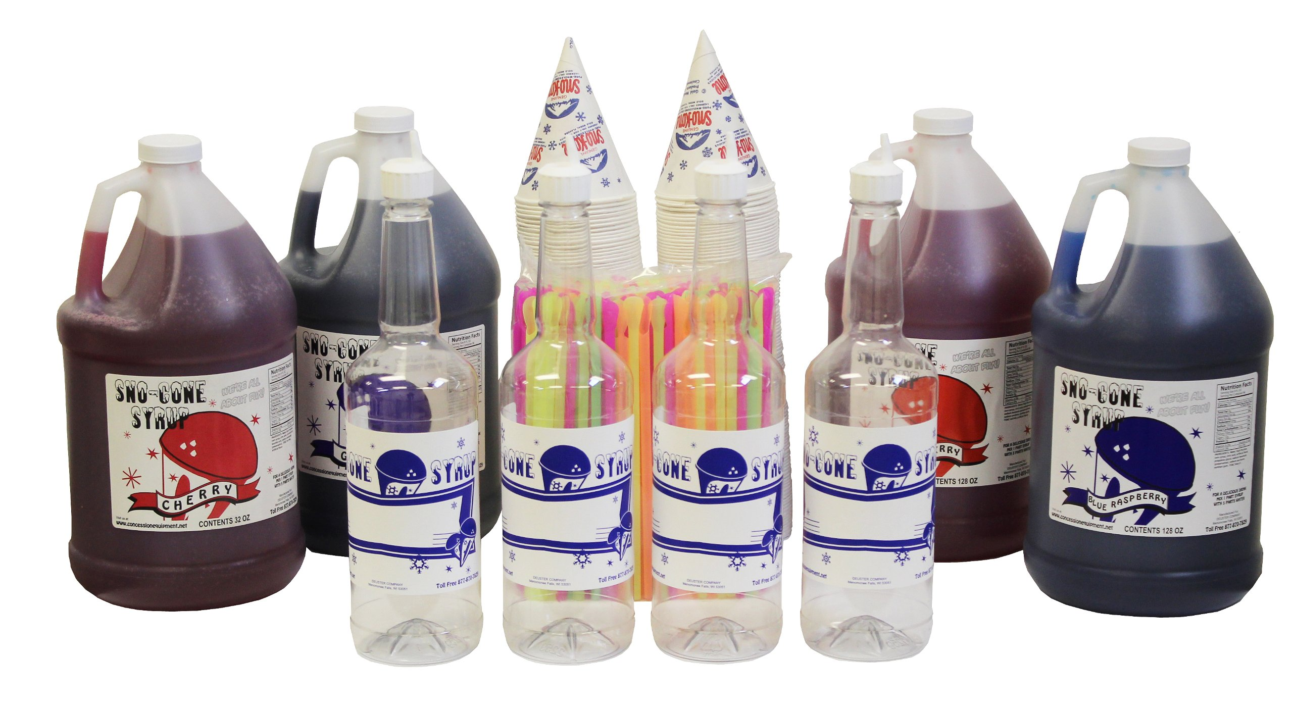 Snow Cone & Shave Ice Syrup Complete Kit-Choose Your Flavors
