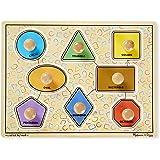 Melissa & Doug Large Shapes Jumbo Knob Wooden Puzzle (8 pcs)