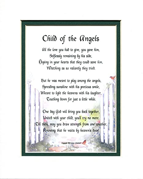 Amazoncom Genies Poems Child Of The Angels Male 107