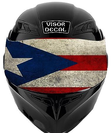 Amazoncom V Puerto Rican Flag VISOR TINT DECAL Graphic Sticker - Motorcycle helmet designs stickers