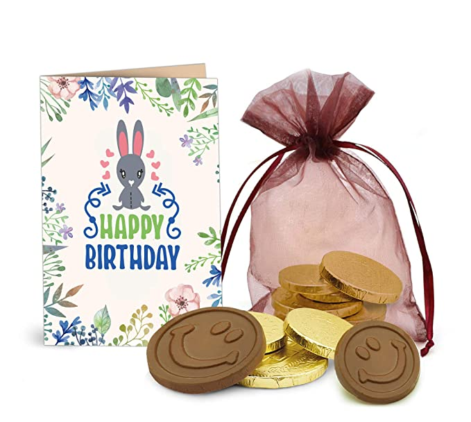 TIED RIBBONS Birthday Gift For Younger Sister Golden Coin Chocolates With Greeting Card