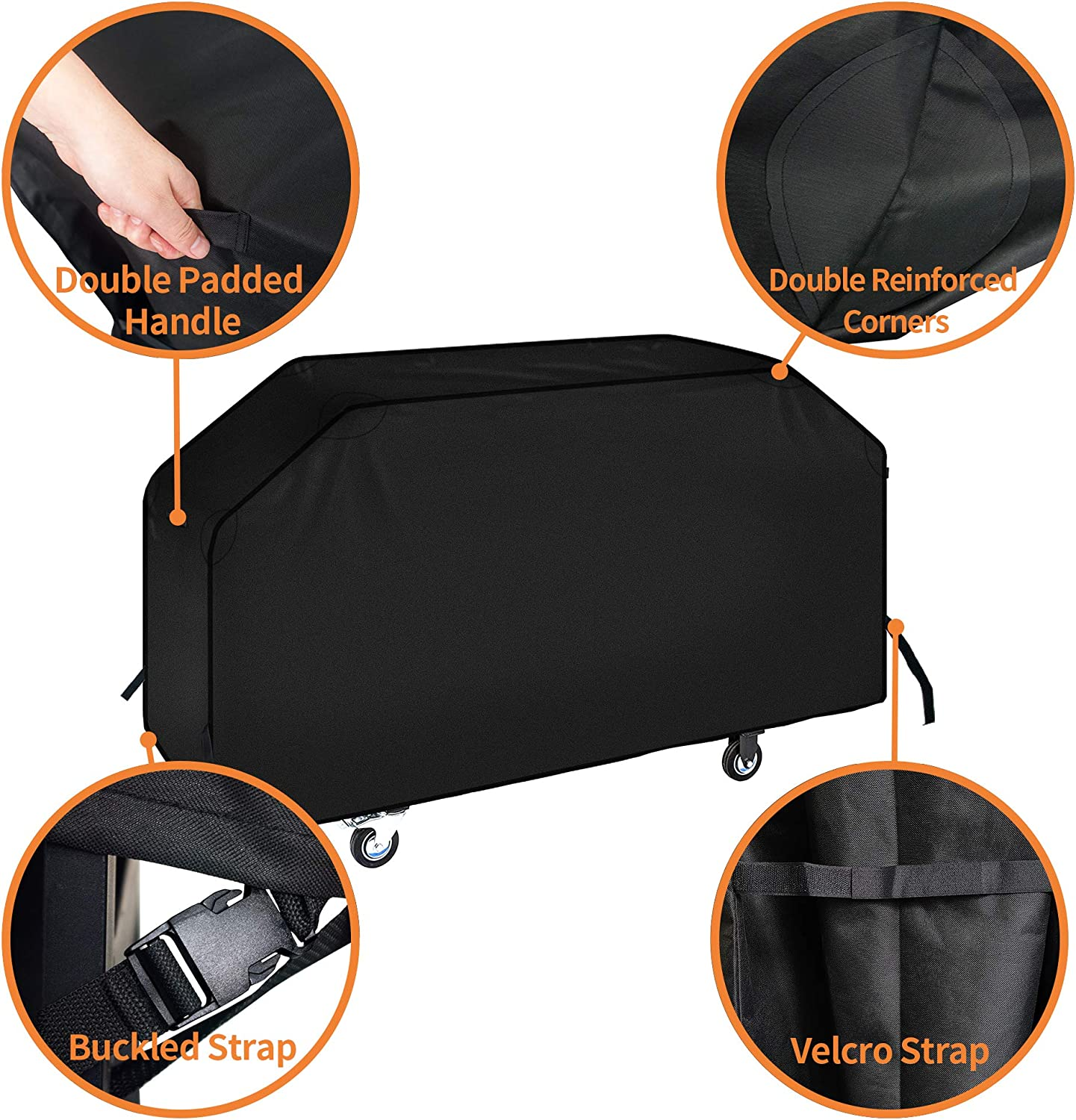 """iCOVER 36 inch Blackstone Griddle Cover, 600D Heavy Duty Waterproof Canvas Flat Top Gas Grill Cover for Blackstone 36"""" Griddle Cooking Station Camp Chef 600 Barbecue Cover with Support Pole : Garden & Outdoor"""