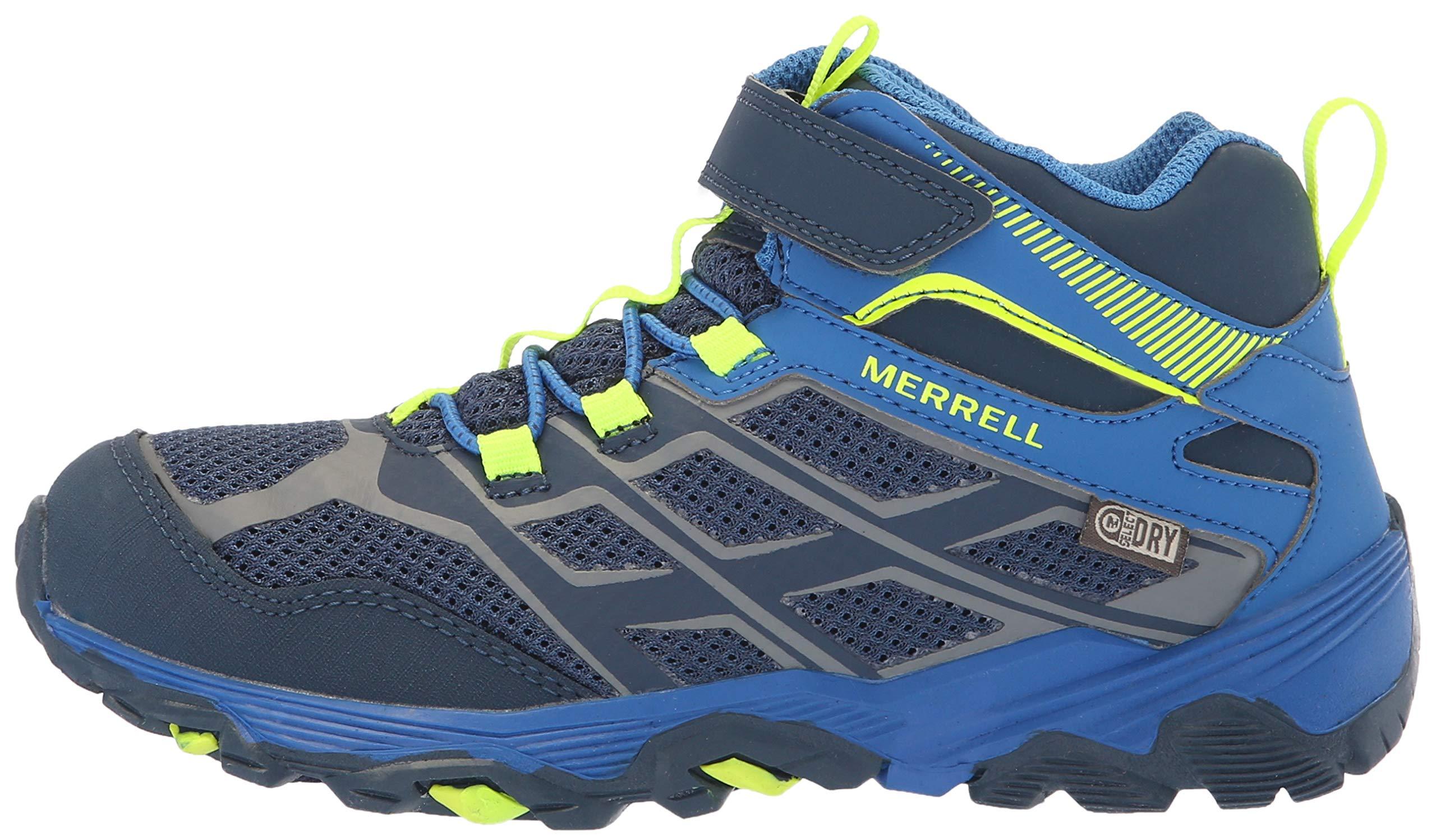 Merrell Boys' Moab FST Mid A/C WTRPF Hiking Shoe, Navy/Cobalt, 6 Medium US Big Kid by Merrell (Image #5)