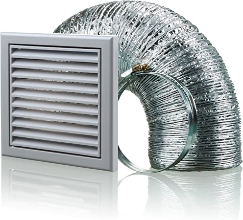 3-vsgr Hotte aspirante 100/ mm conduit da/ération KIT Ventilateur Extracteur dair/  / Gris blauberg UK bb-chk-100