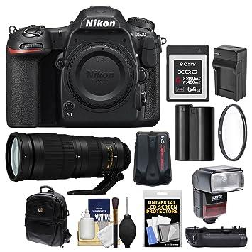 Amazon.com: Nikon D500 WiFi 4 K cuerpo de la cámara SLR ...