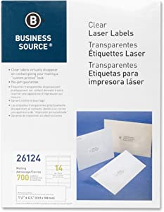 "Business Source Labels Labeling Systems Address Label, 1-1/3""x4-1/4"" (26124)"