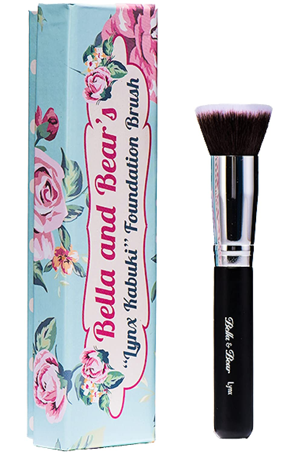 Bella and Bear Foundation Brush - Our Professional Kabuki Flat Stippling Brush Works with Liquid - Mineral and Powder Foundation MBSO174