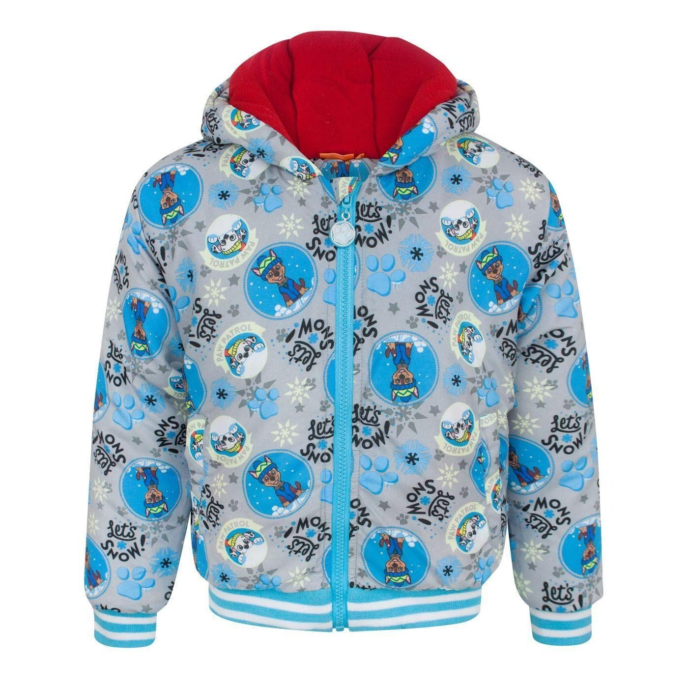 Paw Patrol Childrens Boys Lets Snow Grey Coat