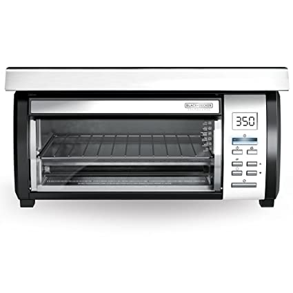 Beau BLACK+DECKER Spacemaker Under Counter Toaster Oven, Black/Stainless Steel,  TROS1000D