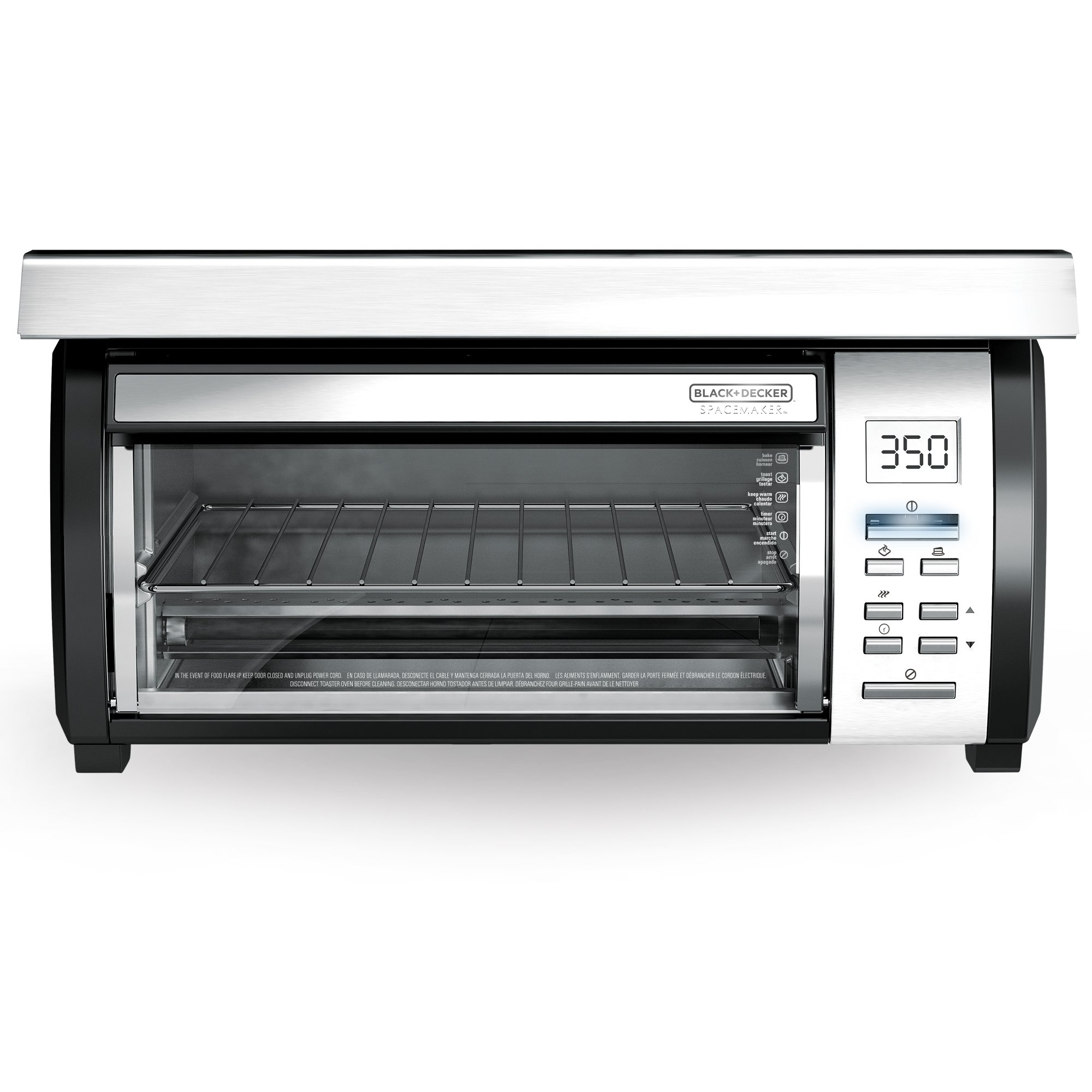 BLACK+DECKER Spacemaker Under-Counter Toaster Oven, Black/Stainless Steel, TROS1000D