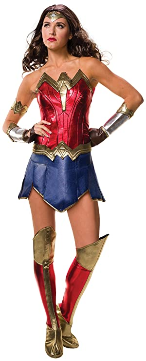 Wonder Woman Fancy Dress Costume Cosplay Outfit Adult Womens Ladies UK 6 b517c6304fee